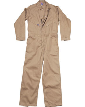 Lapco Men's 7 oz. Flame Resistant Coveralls, Beige/khaki, hi-res