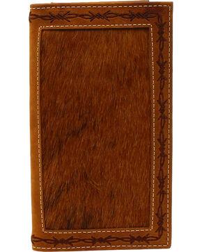 Nocona Men's Rodeo Hear Leather Wallet , Tan, hi-res