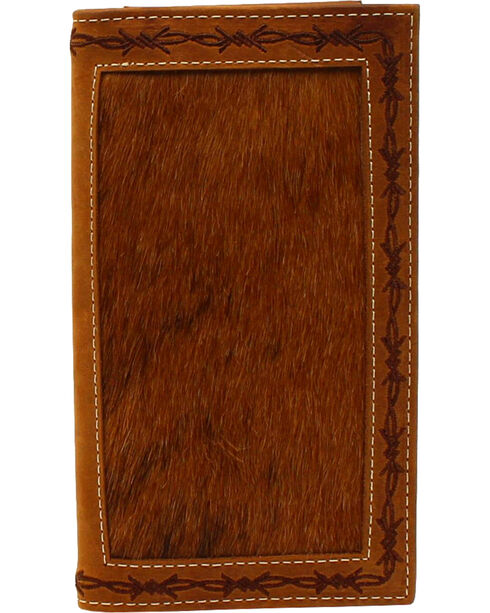 Nocona Men's Rodeo Hear Leather Wallet , Tan, hi-res