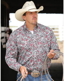 Cinch Men's Paisley Printed Long Sleeve Shirt, , hi-res