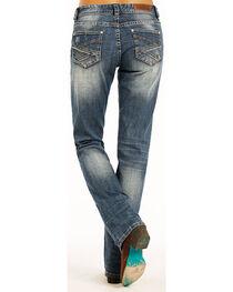 Rock & Roll Cowgirl Women's Indigo Simple Pocket Boyfriend Jeans - Straight Fit , , hi-res