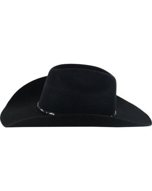Cody James® Men's Drifter 3X Rider Crown Wool Hat, Black, hi-res