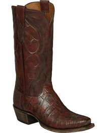 Lucchese Brick Giant Gator Van Cowboy Boots - Square Toe, , hi-res