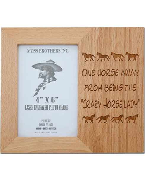 Moss Brothers Crazy Horse Lady Picture Frame, Natural, hi-res