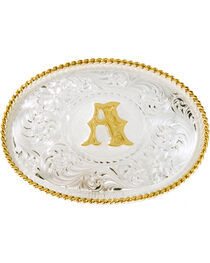 Montana Silversmiths Initial A Western Buckle, , hi-res