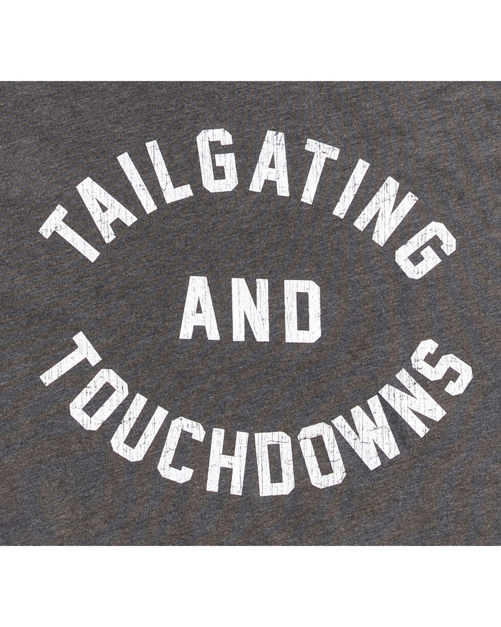 Original Retro Brand Men's Black Tailgating and Touchdowns Tee , Black, hi-res
