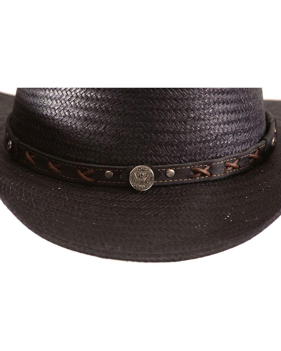 Jack Daniel's black straw cowboy hat, Black, hi-res