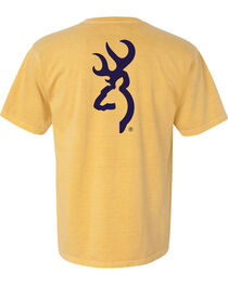 Browning Men's Mustard Buckmark Short Sleeve Tee, , hi-res