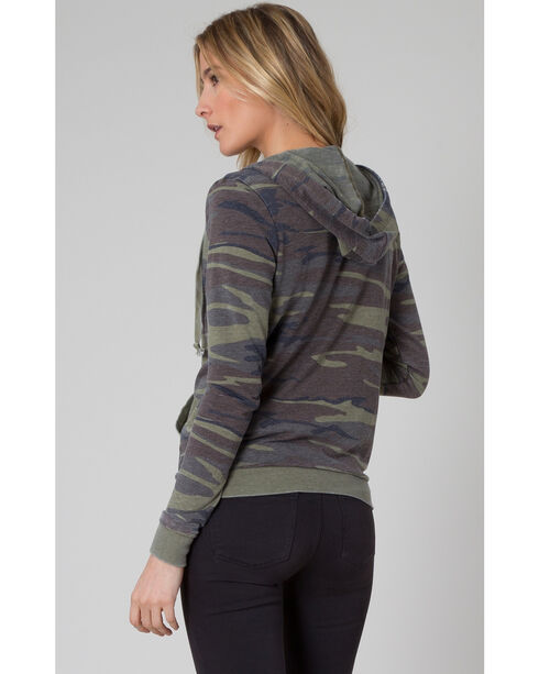 Z Supply Women's Green Camo Zip Hoodie , Camouflage, hi-res