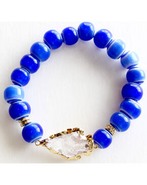 Everlasting Joy Jewelry Women's Blue Tile Arrowhead Bracelet , Blue, hi-res
