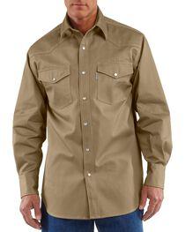 Carhartt Solid Cotton Twill Long Sleeve Work Shirt - Big & Tall, , hi-res