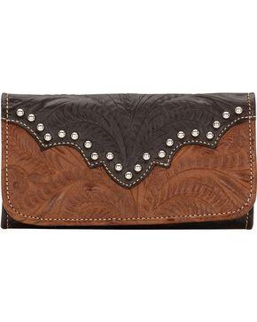 American West Annie's Secret Tri-Fold Wallet, Antique Brown, hi-res