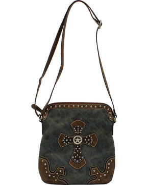 Blazin Roxx Cross Crossbody Bag, Blue, hi-res