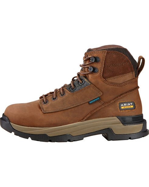 "Ariat Mastergrip 6"" H2O Work Boots, Brown, hi-res"