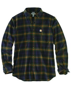 Carhartt Men's Rugged Flex Hamilton Plaid Shirt - Big & Tall, Olive, hi-res