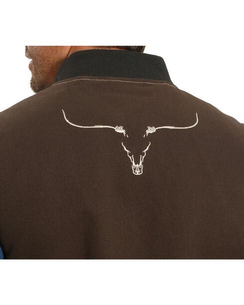 Cowboy Hardware Men's Steer Skull Vest, Brown, hi-res