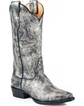 Stetson Women's Jess Snip Toe Western Boots, Grey, hi-res