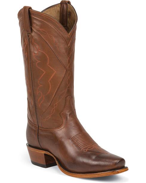 Tony Lama Men's El Paso Jersey Calf Western Boots, Tan, hi-res