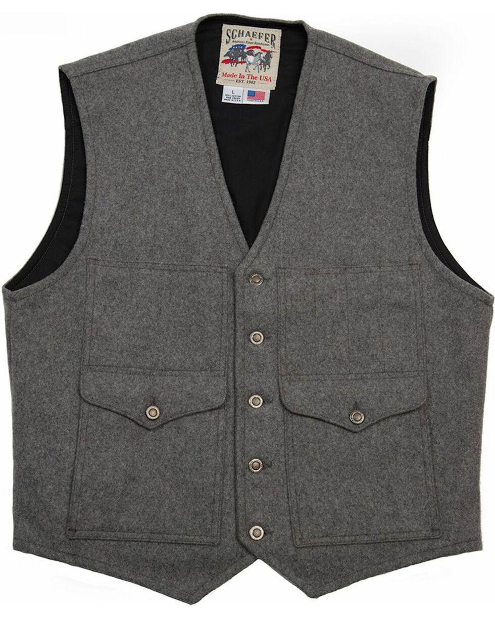 Schaefer Outfitter Men's Charcoal Scout Melton Wool Vest - 3XL, Charcoal, hi-res