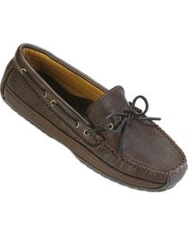 Minnetonka Moosehide Leather Weekend Moccasins, , hi-res
