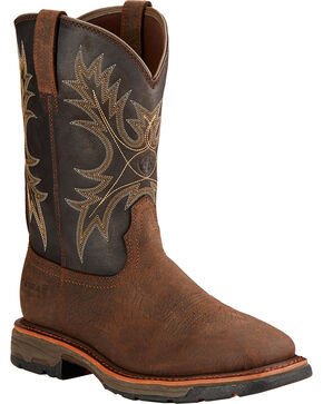 Ariat Men's Work Hog H2O Work Boots, Brown, hi-res