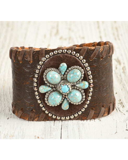 Cowgirl Confetti Women's Desert Bloom Cuff Bracelet, Brown, hi-res