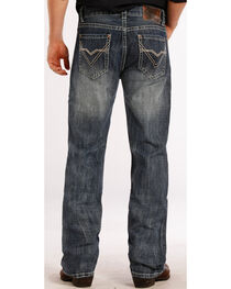 Rock & Roll Cowboy Men's Double Barrel Relaxed Straight Leg Jeans, , hi-res