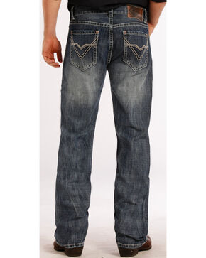 Rock & Roll Cowboy Men's Double Barrel Relaxed Straight Leg Jeans, Denim, hi-res