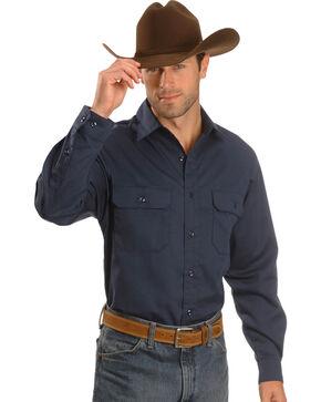 Carhartt Twill Button Work Shirt - Tall, Navy, hi-res