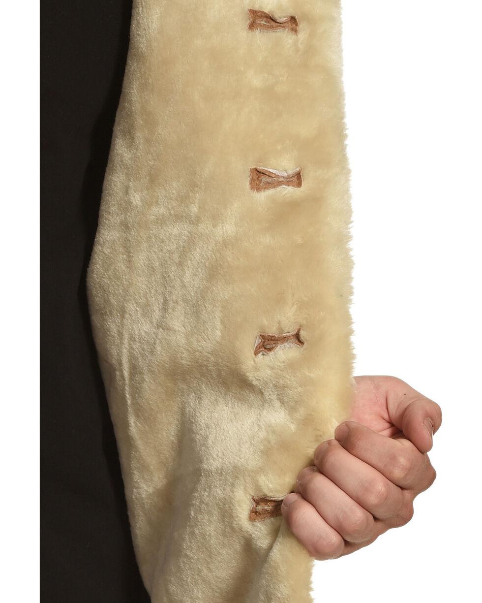 Vintage Leather Men's Sherpa-Lined Suede Coat, Tan, hi-res