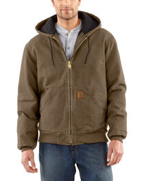 Carhartt Men's Sandstone Flannel Lined Active Jacket, , hi-res