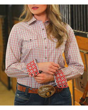 Cinch Women's Plaid Performance Shirt, Multi, hi-res