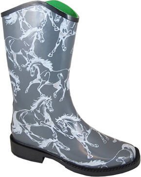 Smoky Mountain Women's Ozarka Casual Rain Boots, Grey, hi-res