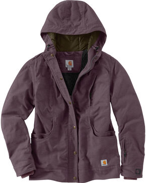 Carhartt Women's Full Swing Quick Duck Norwich Work Jacket, Purple, hi-res