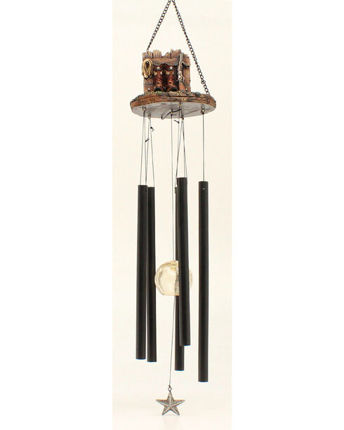 Western Moments Cowboy Boot and Gun Wind Chime, Brown, hi-res