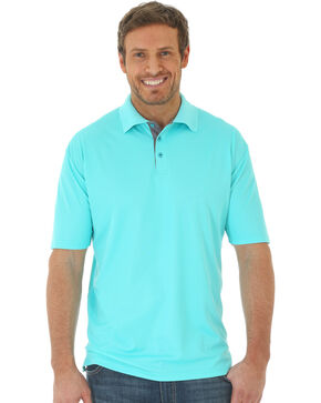Wrangler Men's Aqua 20X® Advanced Comfort Performance Polo, Aqua, hi-res