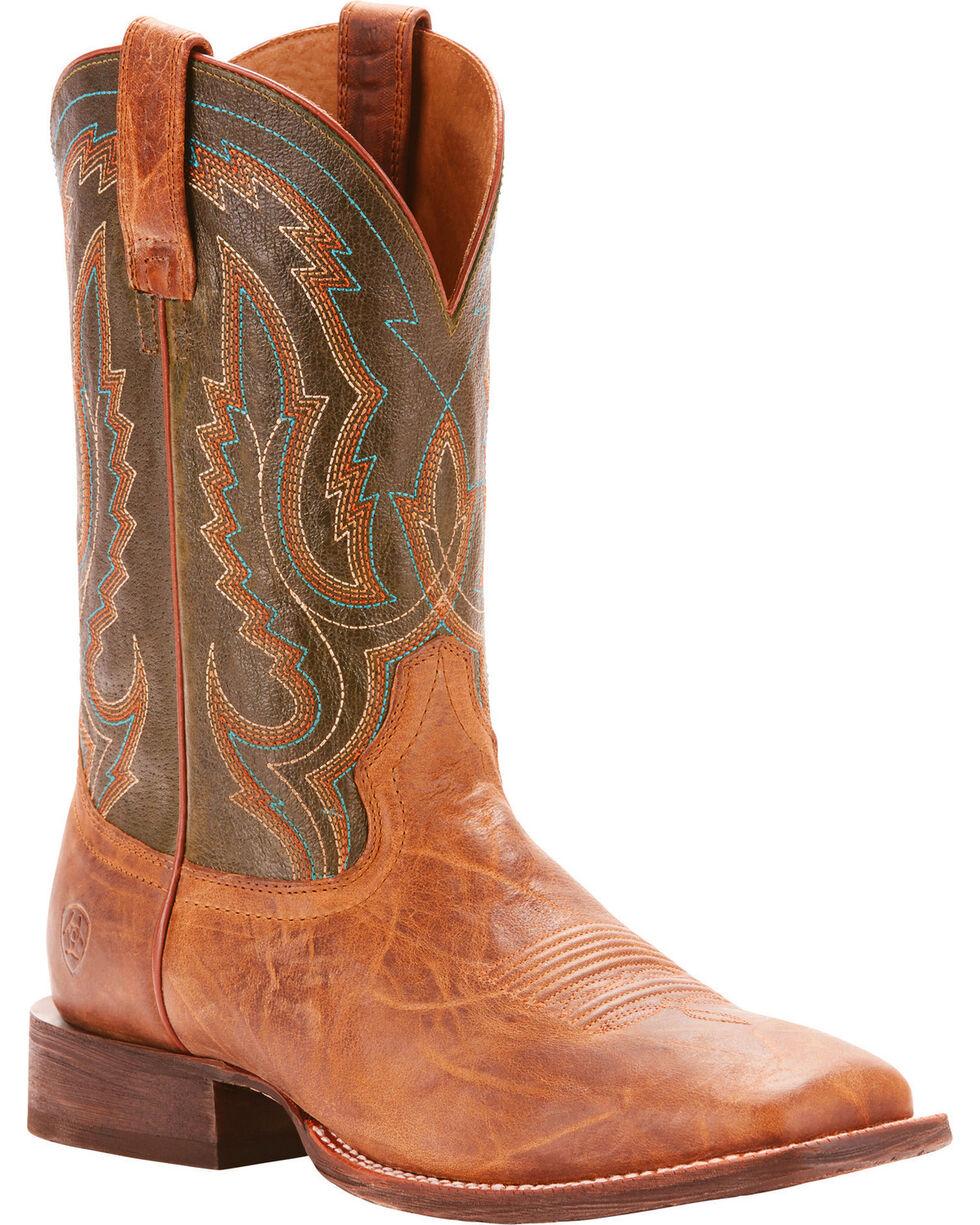 Ariat Men's Circuit Slingshot Tobacco Toffee Performance Cowboy Boots - Square Toe, Tan, hi-res