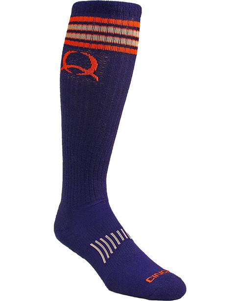 Cinch Men's Blue Boot Socks , Blue, hi-res