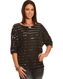 Rock 47 Wrangler Women's Sequin Blouse, , hi-res