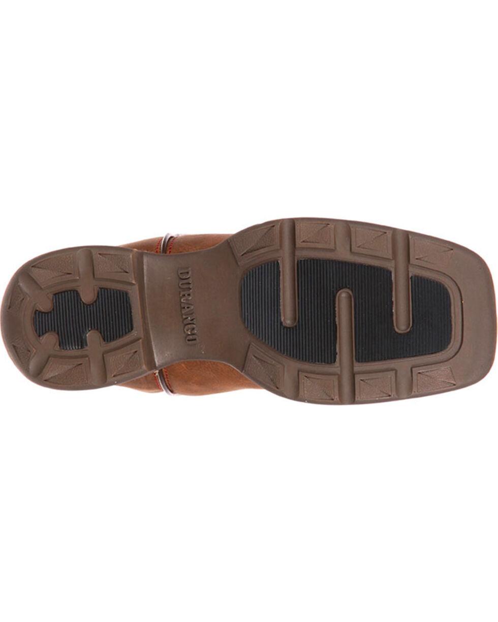 Durango Little Kid Stockman Western Boots - Square Toe , Brown, hi-res