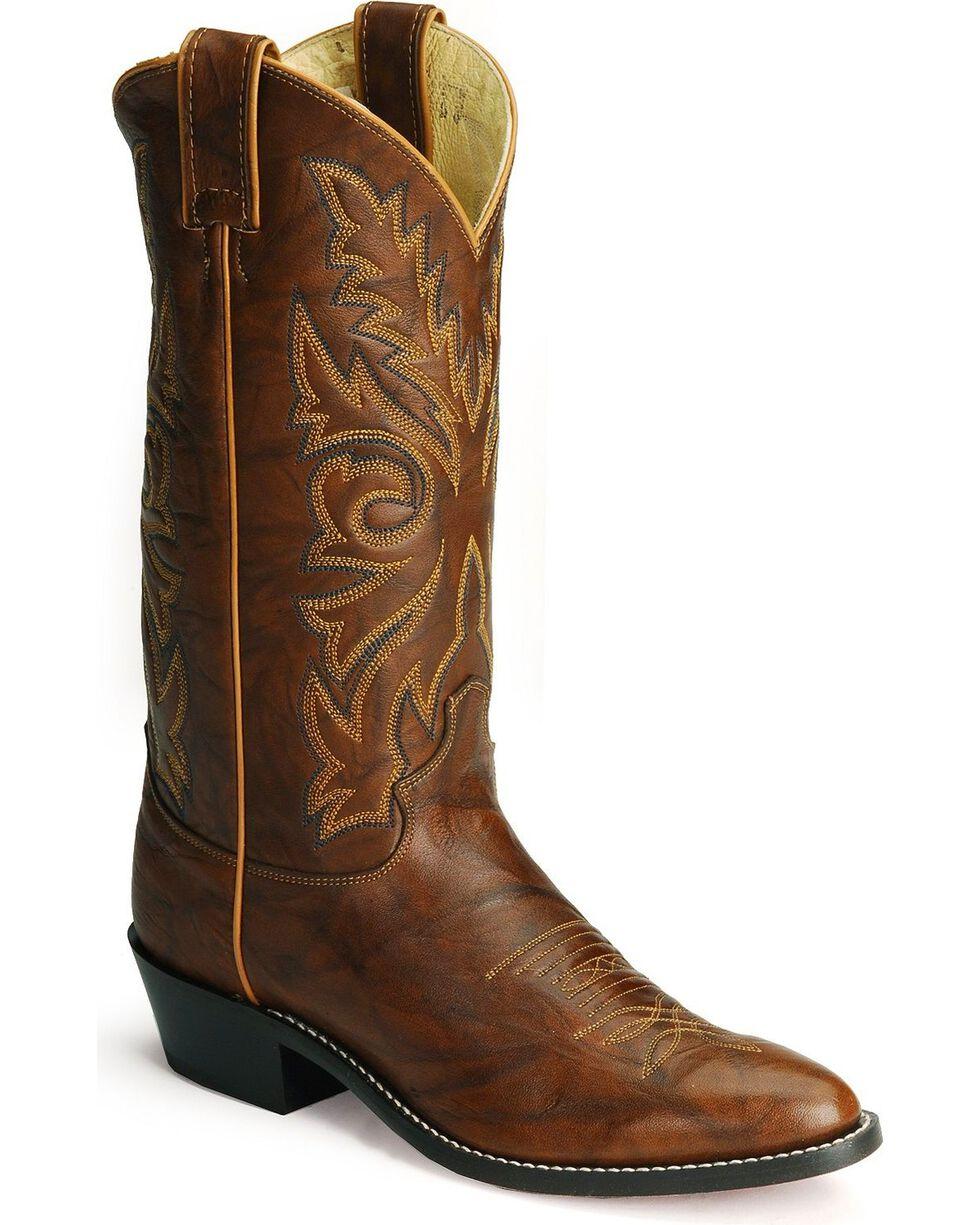 "Justin Men's 13"" Deerlite Western Boots, Chestnut, hi-res"