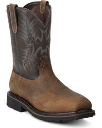 Ariat Men's Sierra Wide Square Steel Toe Work Boots, , hi-res