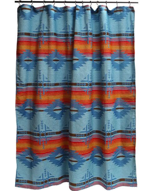 Carstens Arizona Shower Curtain, Turquoise, hi-res