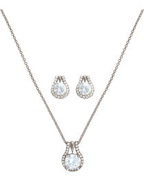 Montana Silversmiths Women's Cubic Zirconia Stud Jewelry Set, , hi-res