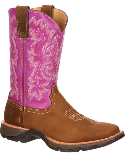Durango Women's Lady Rebel Ramped Up Western Boots, Tan, hi-res