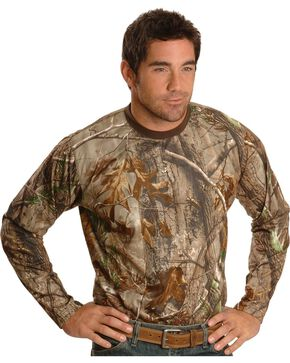 Rocky SilentHunter Long Sleeve Performance Shirt, Brown, hi-res