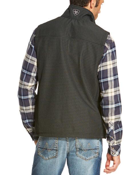 Ariat Men's Black Vernon Soft Shell Grid Vest , Black, hi-res
