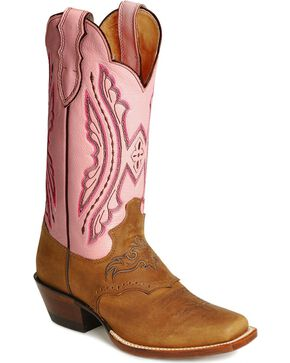 Justin Women's Punchy Western Boots, Coffee, hi-res
