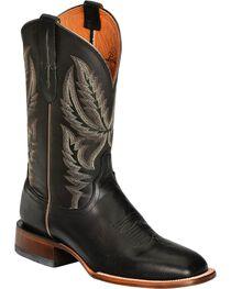 Lucchese Men's Rhett Broad Square Toe Western Boots, Black, hi-res