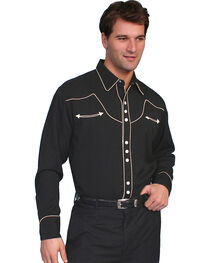 Scully Black Vintage Western Shirt, , hi-res